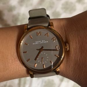 Marc Jacobs Baker' Leather Strap Watch